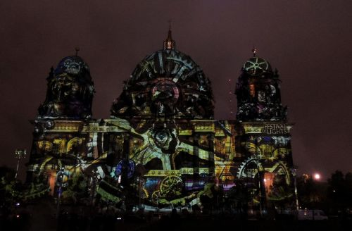 berlin cathedral festival of light lighting