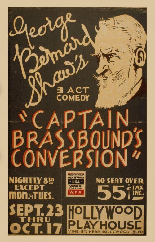 Bernard Shaw Vintage Comedy Poster