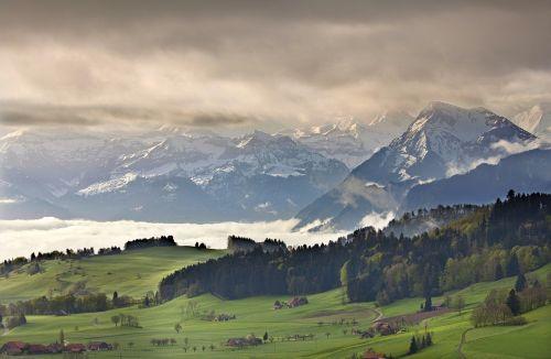 bernese oberland switzerland alpine