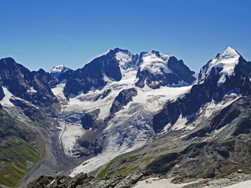 bernina alps summit glacier