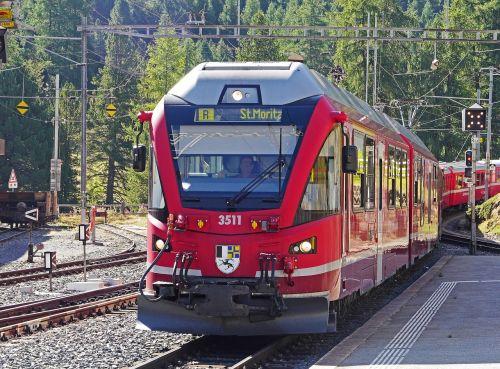 bernina railway pontresina railway station