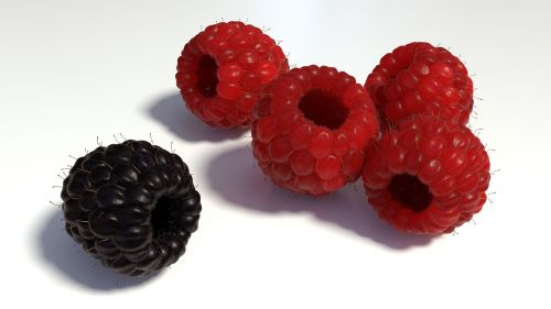 raspberries berries fruits