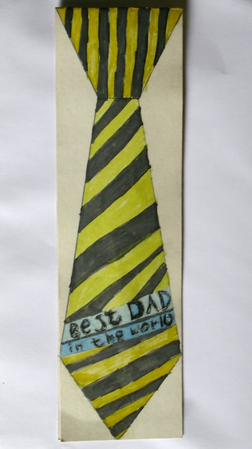 Best Dad In The World Tie Drawing