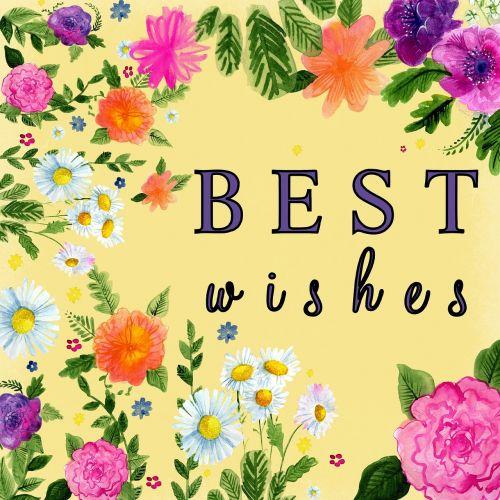 best wishes yellow flower