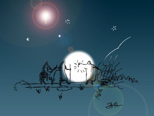 Bethlehem Night Scene