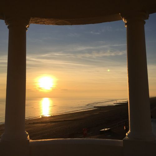 bexhill sunset england