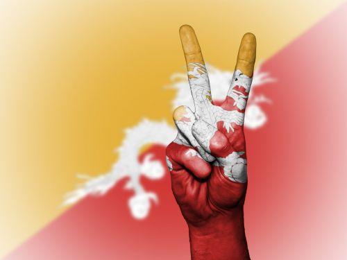 bhutan flag peace