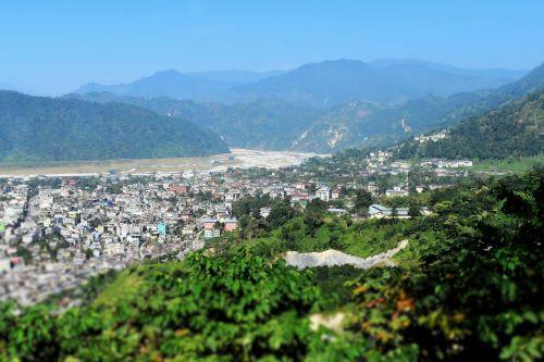 bhutan valley natural landscape