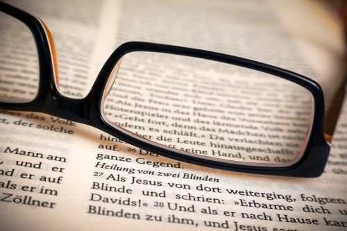 bible glasses healing