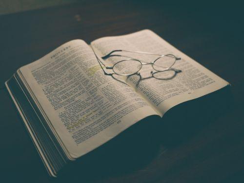 bible book eyeglasses