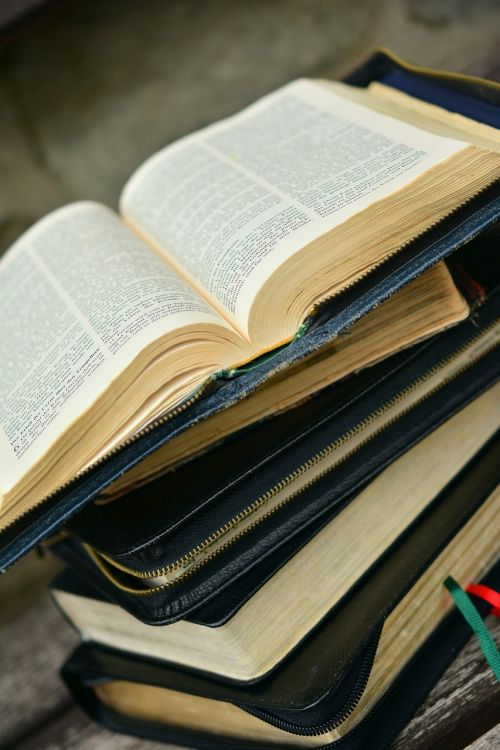 bible book stack
