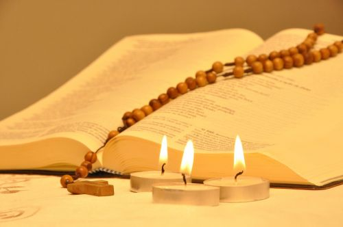 bible candles rosary
