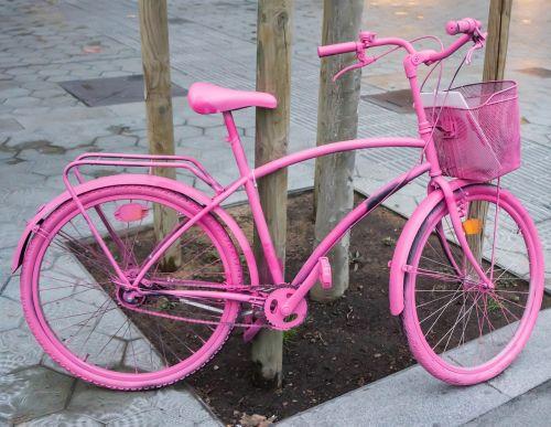 bicycle pink bike