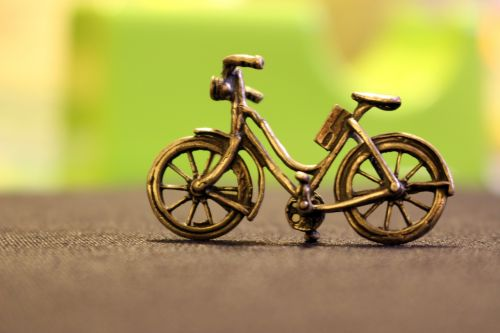 bicycle metal bronze