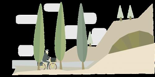 bicycle france landscape