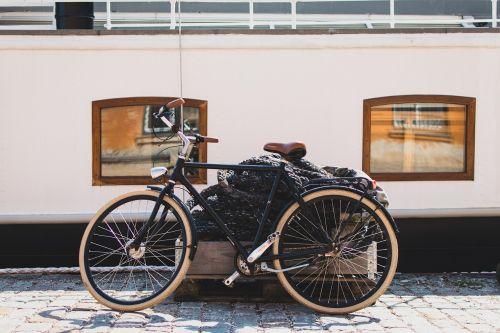 bicycle bike cobblestones