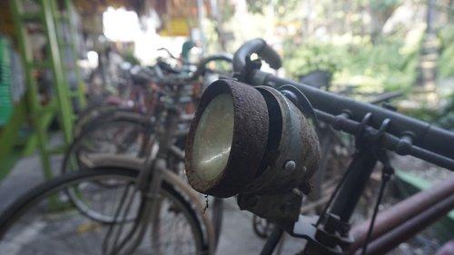 bicycle  vintage bike  headlight