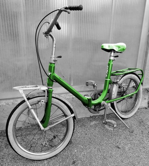 bicycle old green