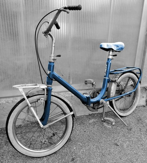 bicycle old blue