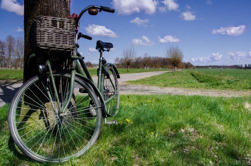 bicycle blue sky