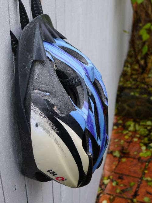 bicycle helmet crash