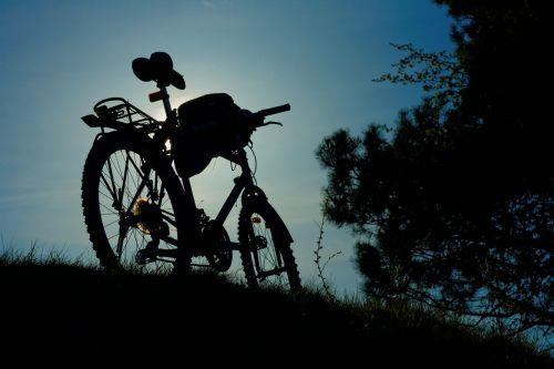 bicycle silhouette bike