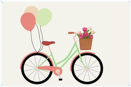 bicycle balloon cute
