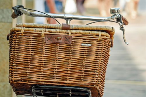 bicycle basket basket wicker basket