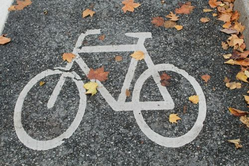 bicycle path bike autumn