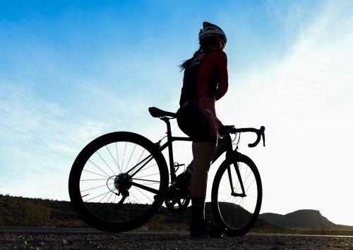 bicycle rider resting bike