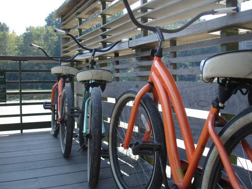 bicycles cycle parked