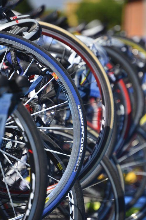bicycles race triathlon