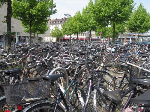 bicycles parking fray