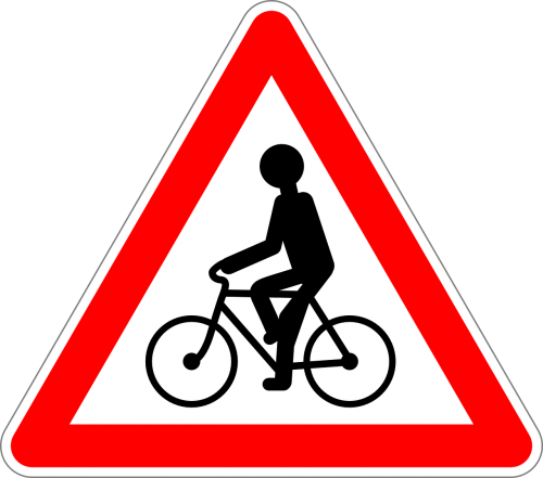 bicycles cycler traffic sign