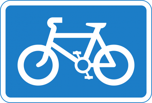 bicycles sign signage