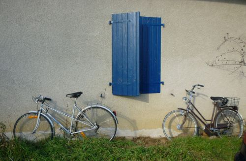 Bicycles Against A Wall