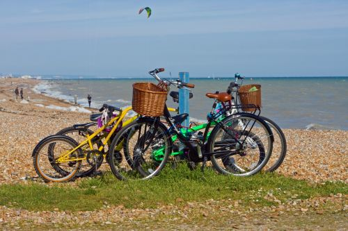 Bicycles At The Seaside
