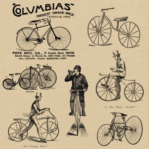 Bicycles Vintage Wallpaper Adverts