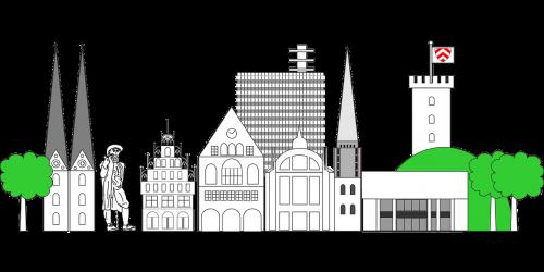 bielefeld skyline city