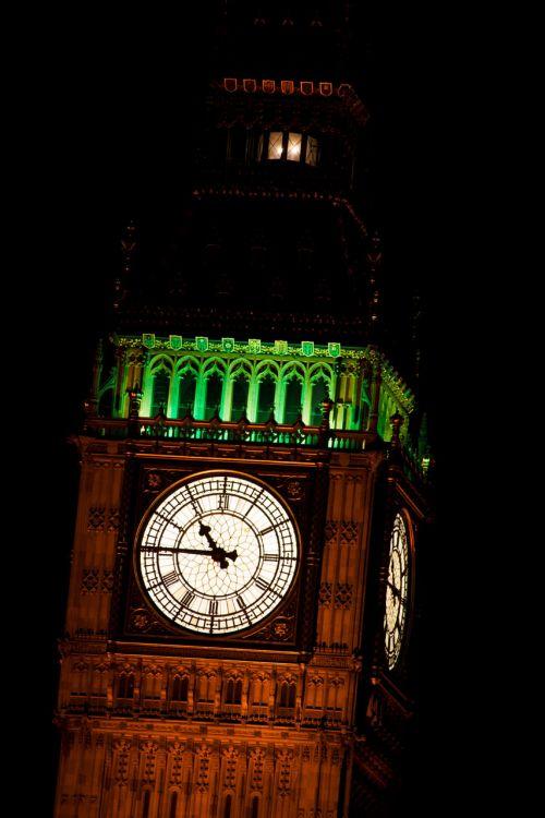 Big Ben Detail At Night
