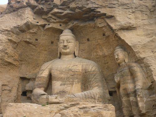 big buddha the yungang grottoes carving