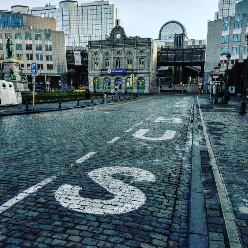 big city urban road urban area