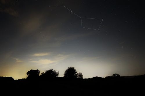 big dipper summer night constellation