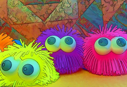 Big Eyed Squeeze Toys