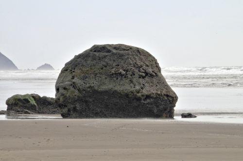 Big Rock On Beach