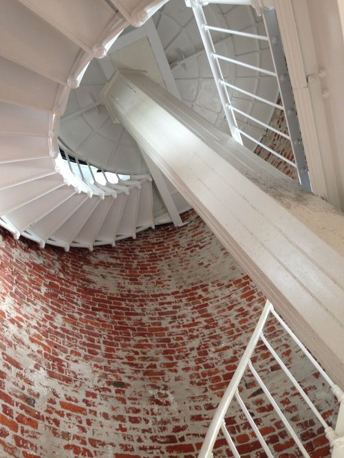 big sur lighthouse spiral stairs