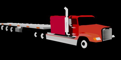 big truck eighteen wheeler tractor and trailer