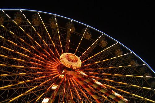 big wheel ferris wheel night