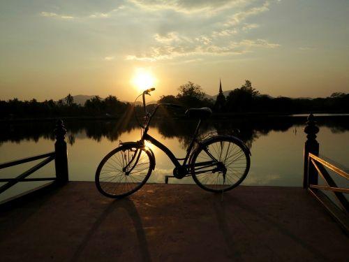 bike sunset landscape