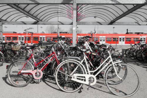 bike parking space wheel